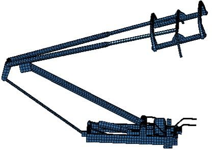 Boundary element model of the pantograph