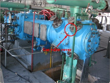 The disposition of experimental  equipment for gas valve