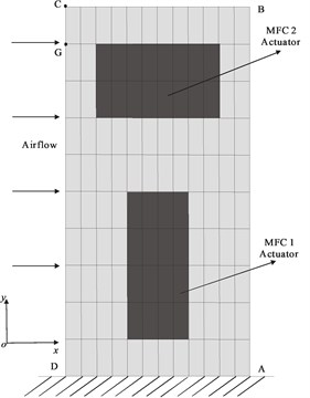 FEM of the vertical tail structure  with MFC