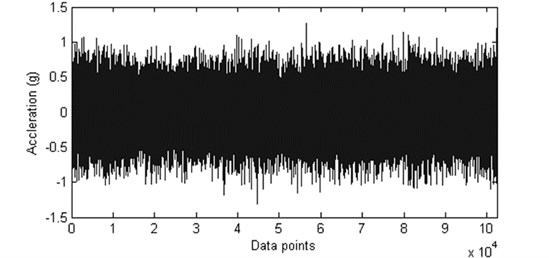 The collected vibration data