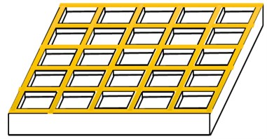 Partitioning of the sandwich plate