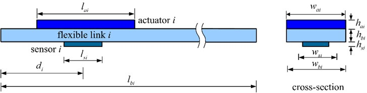 The ith flexible link of the manipulator system