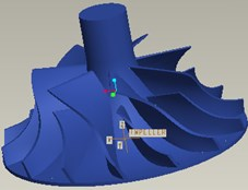FEM model of compressor impeller