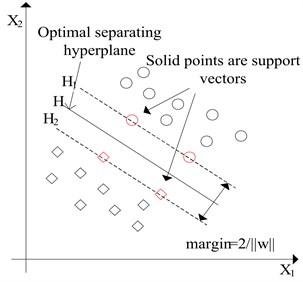 Optimal separating hyperplane (SVM)