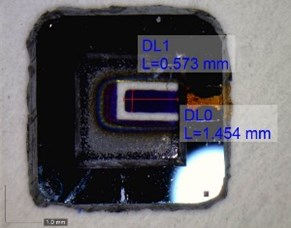Micro resonant gas sensor and its test system