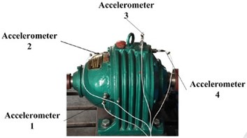 Mounted location of accelerometers