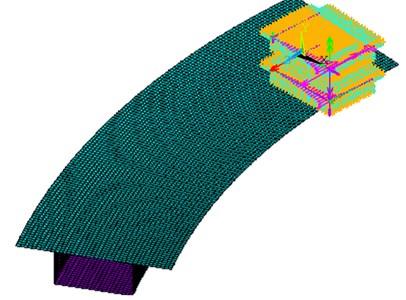 Finite element model of curved box girder