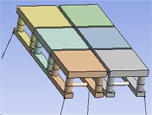 Multiple modules-offshore mobile platform