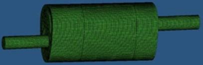 FEM of muffler meshes