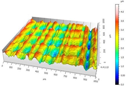 Calculation of the fractal parameters of the machined surfaces