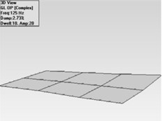 Mode shapes for bonded unwoven plate  a) first mode, b) second mode, c) third mode, d) fourth mode