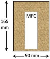 Dimensions of kenaf plates for modal testing
