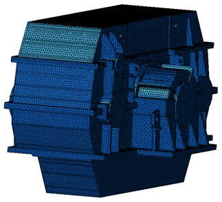 The structure finite element model of marine gearbox