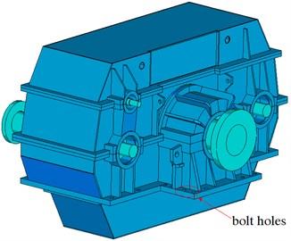 Rigid model of GVW gear system