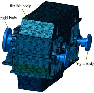 The rigid-flexible coupling dynamic model of marine gearbox