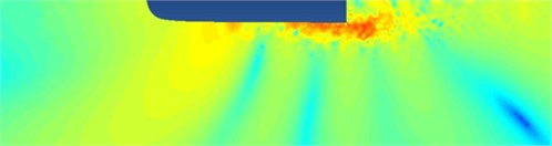Sound pressure distribution on the high-speed transportation
