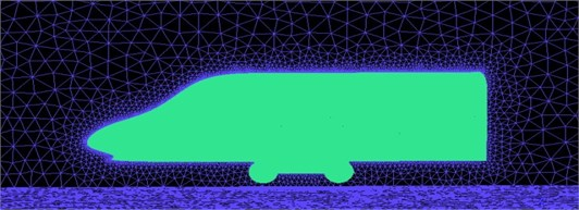 Aerodynamic meshes of the high-speed transportation