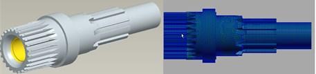 The finite model of gear shaft