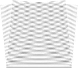 Stroboscopic geometric moiré images when the gap width is i= 3