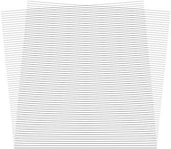 Stroboscopic geometric moiré images when the gap width is i= 4
