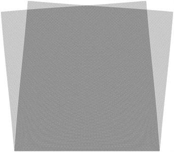Superimposed stroboscopic geometric  moiré image when the gap width is i= 1