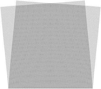 Superimposed stroboscopic geometric  moiré image when the gap width is i= 2