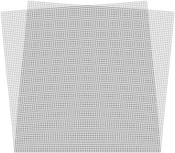 Superimposed stroboscopic geometric  moiré image when the gap width is i= 3