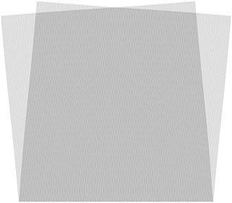 Stroboscopic geometric moiré images when the gap width is i= 1