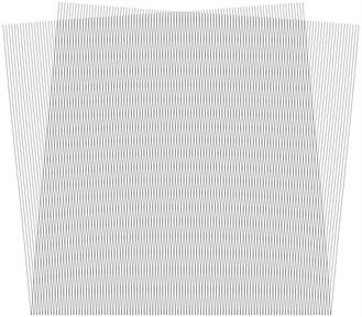 Stroboscopic geometric moiré images when the gap width is i= 2
