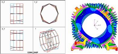 Comparison of mode shapes