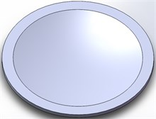 Solid model of the diaphragm