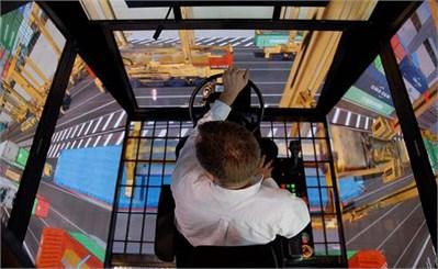 GlobalSim company's ML4000 type crane simulator of MasterLiftTM series