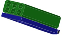 3D simulation of the elevation angle control