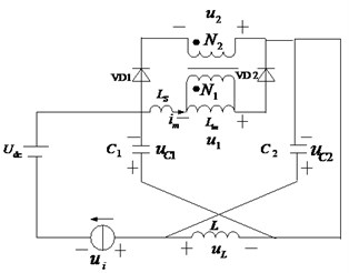 Equivalent circuit of this novel Z-source inverter indifferent states