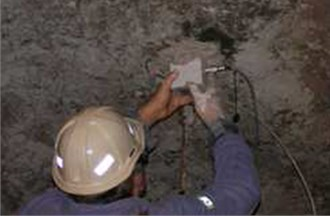 The accelerometer located on the mining corridor roof