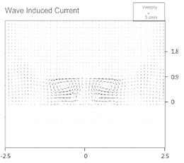 Computed wave-induced current fields