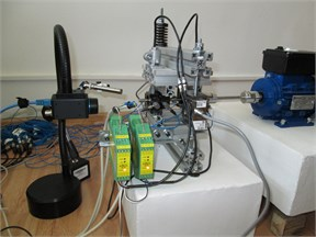 The test stand with sensors