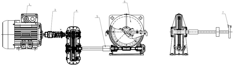 Scheme of the test stand