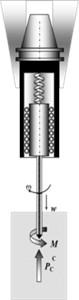 Scheme of a self-vibratory drilling head design