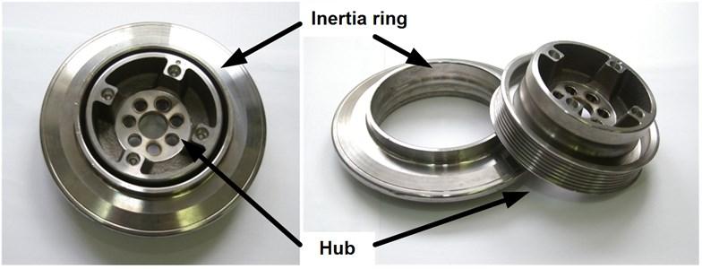 Rubber torsional vibration damper and its basic elements