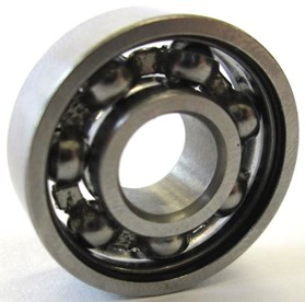 a) The deep groove ball bearing 608Z and b) its model [6]