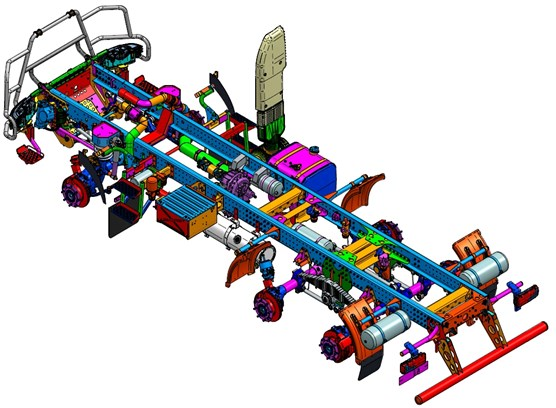 Sample suspension system of a special-purpose vehicle [23]