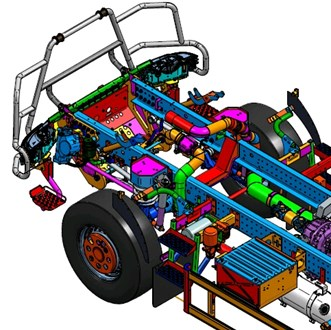 Cabin suspension of special vehicle (KPWW) [9]