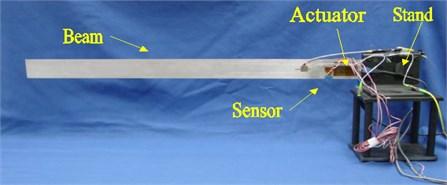 The flexible beam experimental setup
