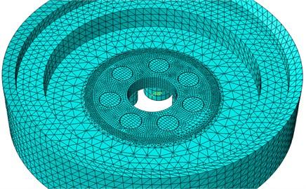 Net FEM model of hub damper