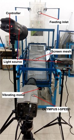 The particle movements are recorded  by high-speed camera system and  experimental prototype