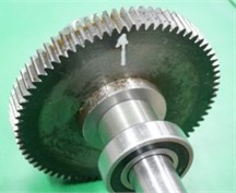 The input fault position of gears