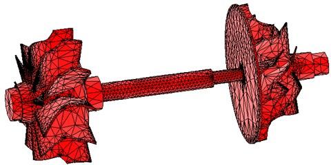 FEM model of the rotor system