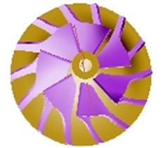 3D model of turbine and impeller with UG