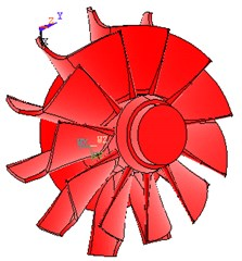3D model of turbine and impeller with ANSYS